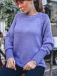 Женский вязаный теплый свитер свободного кроя (в расцветках), фото 10