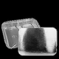 Крышка двyxceкциoн.алюм. контейнеру 520/320мл из алюминиевой фольги и картона (SP M2L) уп/100шт
