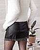 Кожаная юбка с заклёпками на запах черная мини, фото 6