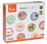 Игра Memory животные Viga toys (51308)