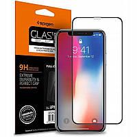 Защитное стекло Spigen Glas.tR Slim Full Cover для iPhone 11 / XR Black   (064GL25233)