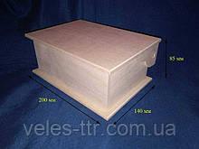 Шкатулка Коробка 20х14х8,5 см фанера заготовка для декора