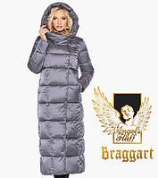 Теплый женский воздуховик жемчужно-серый Braggart Angel's Fluff 31056