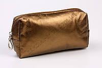 Косметичка коричневого цвета с одним отделением