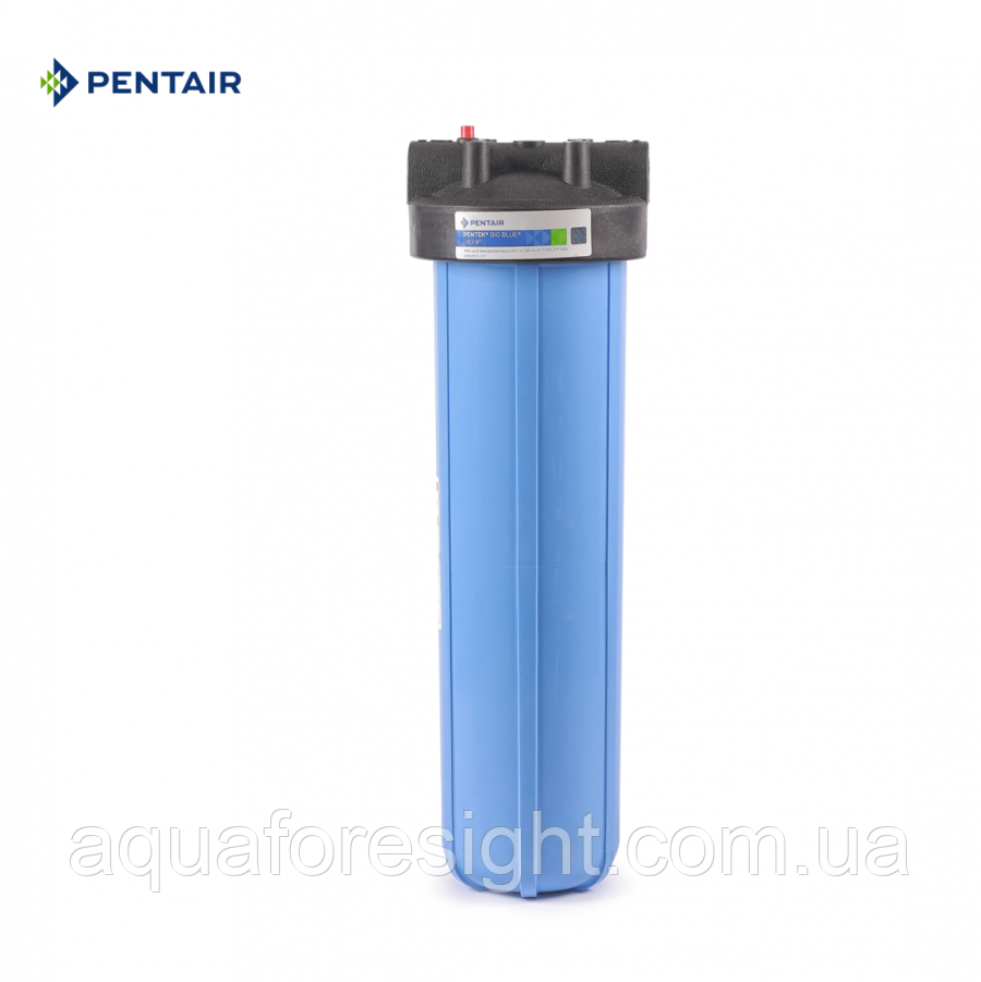 """Колба голубая 1""""-20"""" Big Blue, с резьбой BSP Pentek (для холодной воды)"""
