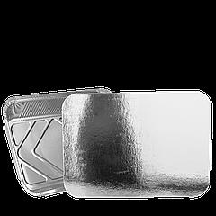 Крышка к прямоугол. алюм. контейнеру 430мл из алюминиевой фольги и картона (SP24L) уп/100 шт