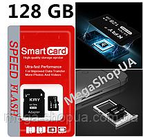 Карта памяти 128GB microSD Class 10 + SD-adapter. Карта памяти микро сд 128 гб KRY Ultra High Speed CF421W
