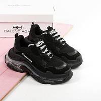 Женские кроссовки в стиле Balenciaga Triple S Clear Sole Black