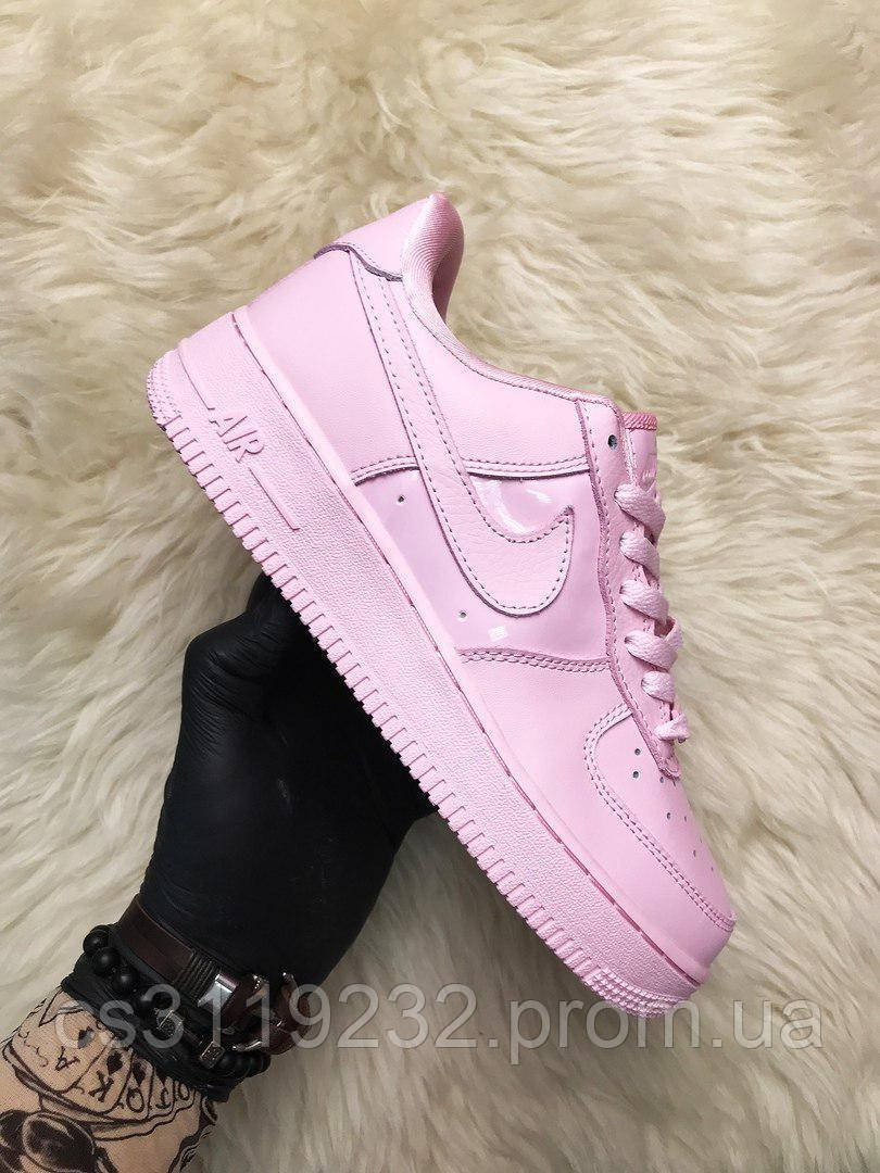 Женские кроссовки Nike Air Force Low Pink (розовые)