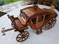Міні-бар карета із чарками велика
