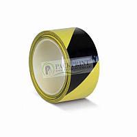 Лента сигнальная клейкая желто-черная 48мм х 33м