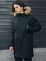 Мужская зимняя парка Staff eco+black