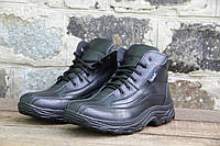 Мужские ботинки зимние из натуральной кожи и меха БОТ 007