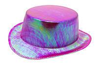 Шляпа новогодняя, ПВХ, 30*25*11 см, фиолетовый.)