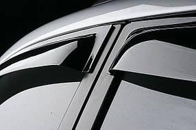 Дефлекторы окон (ветровики) Mercedes E-Class 2010-, седан, 4ч., темный