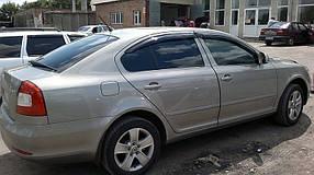 Дефлекторы окон (ветровики) Skoda Octavia 2004-