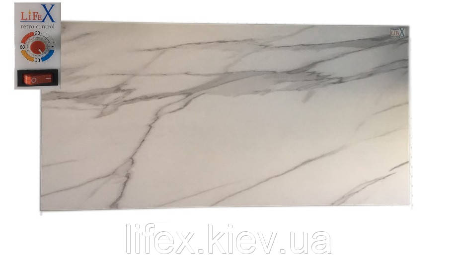 Био конвектор керамический LIFEX ТКП900R (белый мрамор)