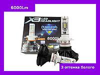 LED Лампы LED X3 Philips 50W  H 4 (Автолампы светодиодные )