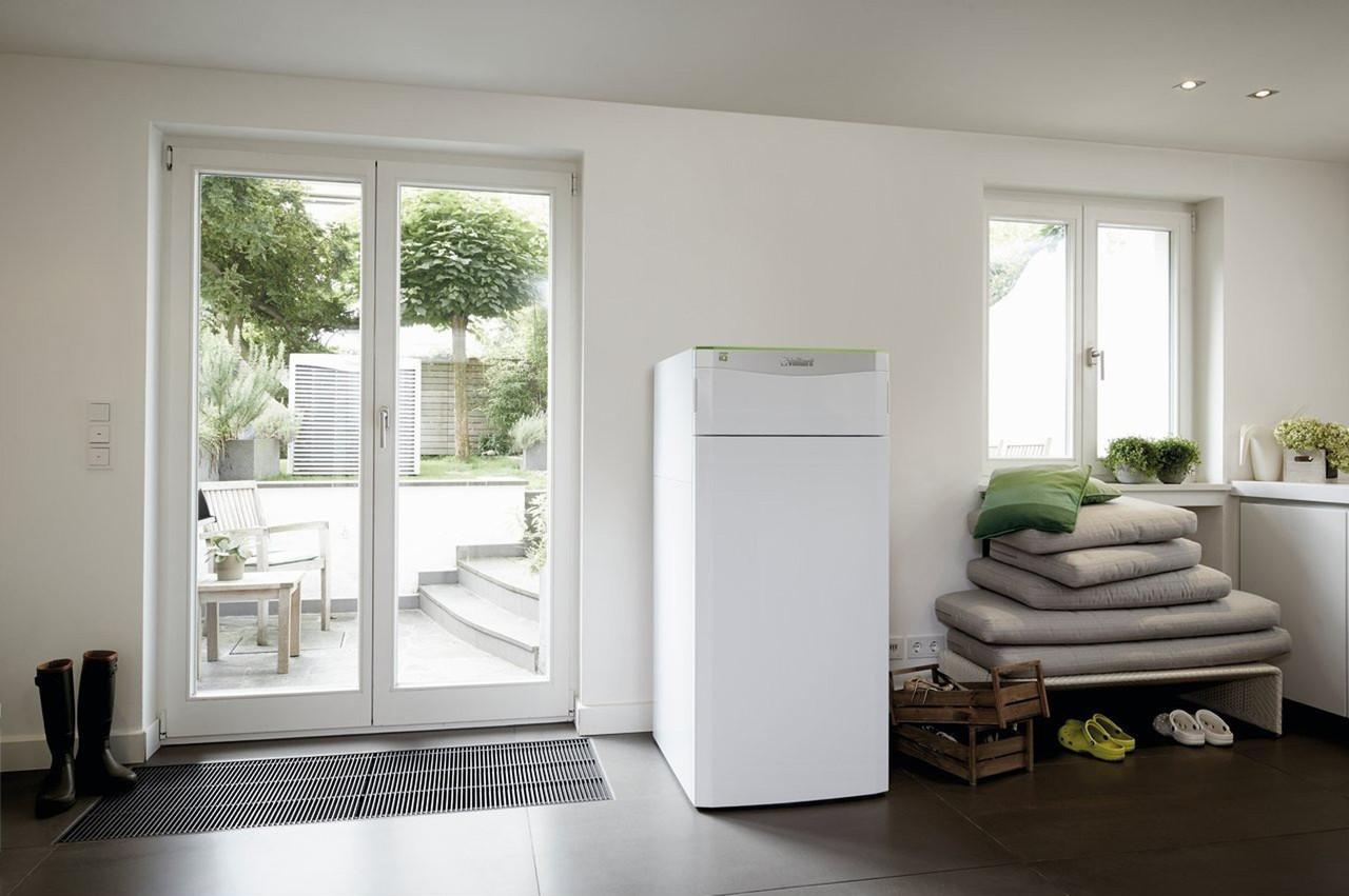Модульный тепловой насос для отопления и горячего водоснабжения Vaillant flexoTHERM exclusive VWF 87/4 230V, фото 1