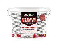 Грунтовка огне-биозащитная KOMPOZIT ВОГНЕБIОЗАХИСТ КОНЦЕНТРАТ 1:10 для древесины красный 3кг