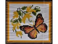 """Набор для творчества со стразами """"Бабочка с желтыми цветами"""" Размер: 23*21см Код 198279"""
