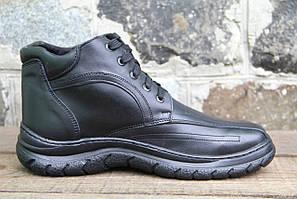 Мужские ботинки зимние из натуральной кожи и меха БОТ 008
