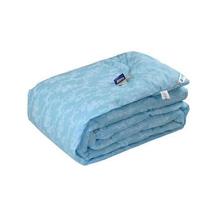 Одеяло шерстяное Руно Вензель голубое зимнее 200х220 евро, фото 2