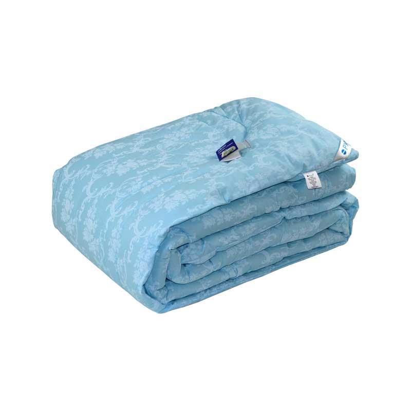 Одеяло шерстяное Руно Вензель голубое зимнее 140х205 полуторное