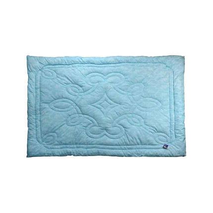Одеяло шерстяное Руно Вензель голубое зимнее 140х205 полуторное, фото 2