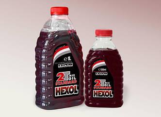 Масло для двухтактных моторов Hexol Standart 0.5л (красное)