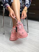 Женские кроссовки в стиле Balenciaga Triple S Clear Sole Rose Pink, фото 3