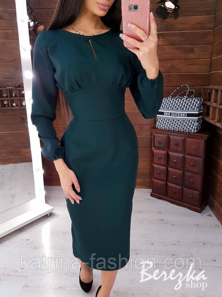 Женское платье-футляр приталенное (в расцветках)