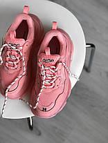 Женские кроссовки в стиле Balenciaga Triple S Clear Sole Rose Pink, фото 2