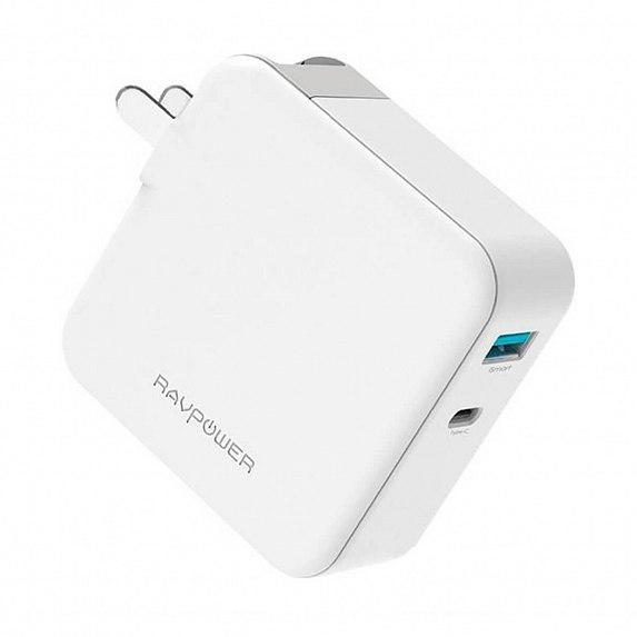 З/у сетевое RAVPower 45W AC + PD + QC3.0 2-Port Wall Charger (RP-PC081WH) EAN/UPC: 6970651386584