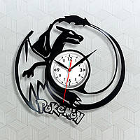 Часы Покемоны Детские часы Подарок для мальчика Часы на батарейке Виниловые часы Круглые часы Pokemon GO 30 см