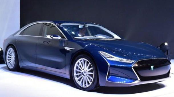 Китайцы сделали копию Tesla Model S. Фото