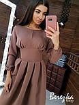 Женское платье-футляр приталенное с юбкой-солнце (в расцветках), фото 2
