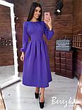 Женское платье-футляр приталенное с юбкой-солнце (в расцветках), фото 5