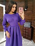 Женское платье-футляр приталенное с юбкой-солнце (в расцветках), фото 9