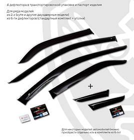 Дефлекторы окон (ветровики) Peugeot 3008 2009-2017 (с хром молдингом)