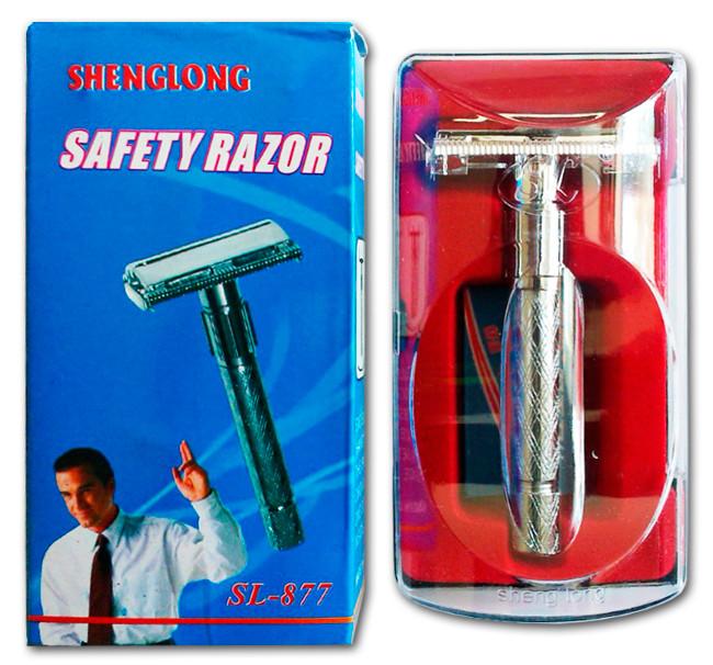 Станок для бритья многоразовый с раздвижной системой смены лезвия, станок SL-877