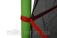 Батут Atleto 140 см с сеткой зеленый New, фото 3