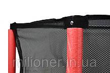Батут Atleto 140 см с сеткой красный New, фото 2
