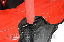 Батут Atleto 140 см с сеткой красный New, фото 3