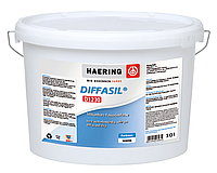 Краска силиконовая HAERING DIFFASIL D1230 фасадная белая - база 1 10л