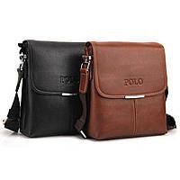 Стильная кожаная мужская сумка Polo + Подарок!