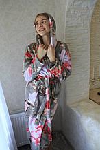 Халаты баталы банные махровые с капюшоном, размеры XXXL-5XL