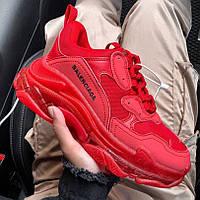 Женские кроссовки в стиле Balenciaga Triple S Clear Sole Red