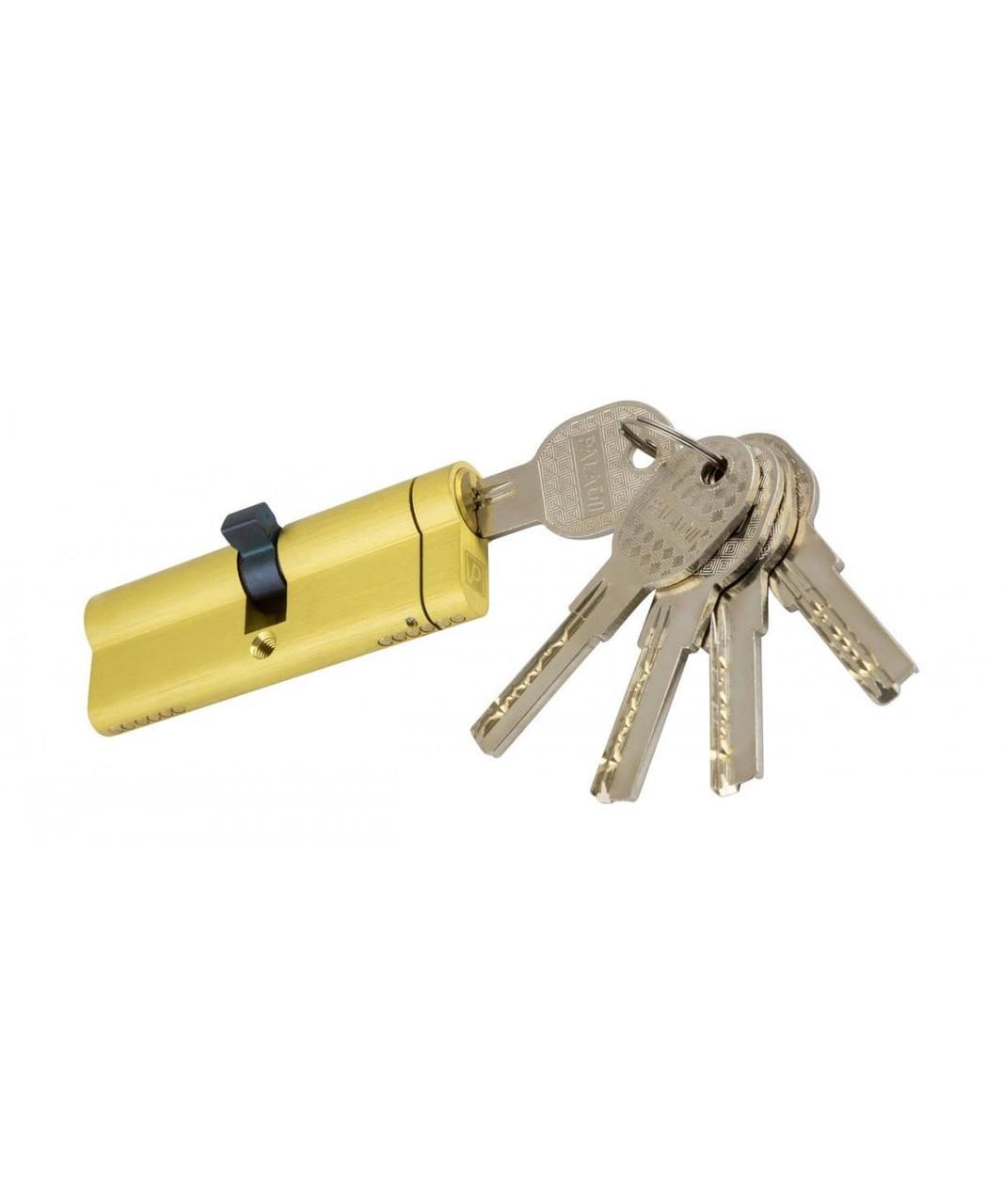 Циліндровий механізм латунний Paladii SP 80 мм 40Т * 40 з вертушкою жовтий