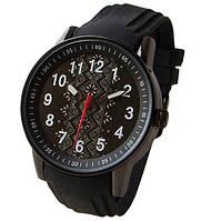 Часы мужские с символикой Украины, вишиванка, черные